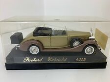 Solido Packard Cabriolet 4099 Plastic Display Case Diecast Car Gold 1:43