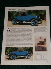 ★★1925 CHEVY SERIES K SUPERIOR SPEC SHEET PHOTO 25 ROADSTER COUPE COACH TOURING★