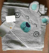 Baby Handtuch Badetuch Kapuzen Tuch Ökotex Ernstings neu grau Bär