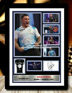 (493) gerwyn price darts signed photograph unframed/framed reprint great gift