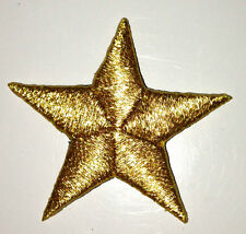 METALLIC GOLD 1/2 inch iron on star patch applique patches embellishment - 249