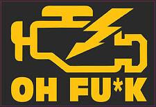 Moteur de contrôle x2 Lumière Avertissement Decal Autocollant Jdm Drift Dub Bombe VW Audi capuche rat