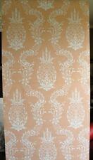 9sr Creamy Coral Pineapple Stencil Waterhouse Wallpaper