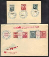 CZECHOSLOVAKIA 1937 TWO COVER WITH SPECIAL CANCELS