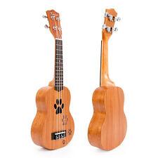 Kmise Soprano Ukulele  21 Inch Ukelele Acoustic Hawaii Guitar 12 Fret Mahogany