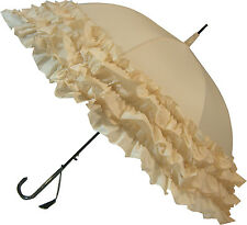 Blooming brollies BOUTIQUE TRIPLE Volant STICK OMBRELLO-Beige