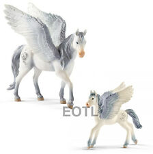 New Schleich 70522 70453 Bayala Pegasus Standing - Set of 2 - Adult & Foal