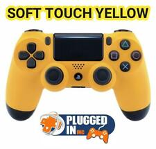 SONY PS4 PLAYSTATION 4 SOFT TOUCH YELLOW CONTROLLER, .... BRAND NEW