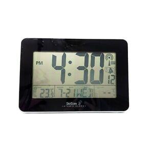Sky Scan Atomic Clock 88909 Temperature Indoor only . No outdoor reader