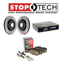 For Chevrolet Cadillac StopTech Front Slotted Brake Rotors Metallic Pads Set Kit