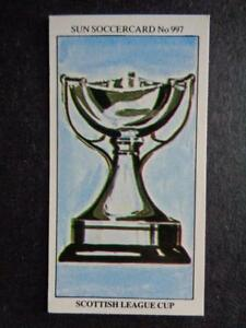 The Sun Soccercards 1978-79 - Trophies - Scottish League Cup #997