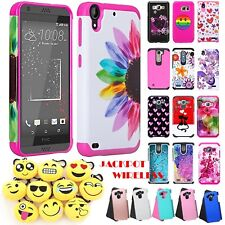 For HTC Desire 626/626S Hybrid ShockProof Slim Protective Rubber Hard Case Cover
