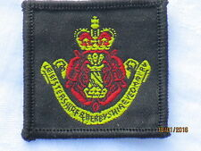 Leicestershire & Derbyshire Yeomanry , Beret Badge Fabric
