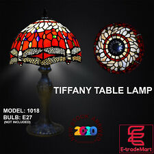New Tiffany Stunning Quality Style Hand Crafted Glass Table /Desk/Bedside Lamps