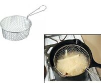 Chip Pan Basket Fryer Fries Stainless Steel Strong Wire Bucket 19cm New