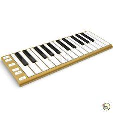 CME Xkey Portable Slim USB MIDI 25-Key Keyboard Mobile Studio Controller Gold