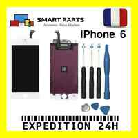 ECRAN LCD RETINA + VITRE TACTILE COMPLET SUR CHASSIS IPHONE 6 BLANC + OUTILS