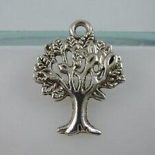 Life Charms Plants Mini Tree Pendant 11900 60Pcs Vintage Tone Vitality Tree of