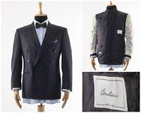Mens CORNELIANI Blazer Coat Jacket Double Breasted Wool Charcoal Grey Size 38 48