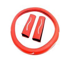 Lenkradbezug 37-39 cm Lenkrad Schoner Kunstleder Rot für Mazda Nissan