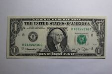 1974 One Dollar Note Radar Palindrome Note Fancy  # H 63244236