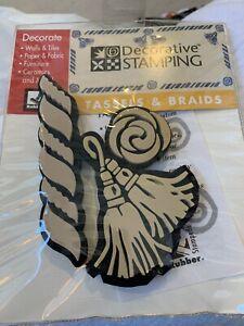 Rubber Stampede Decorative Stamping Tassels & Braids 3 Piece Crafts NEW