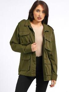 Womens Trench Coat Ladies Utility Jacket Khaki Size 10 8 12 14 16