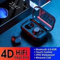 Waterproof Touch Bluetooth 5.0 Earbuds Headset Headphone HIFI Wireless Earphone
