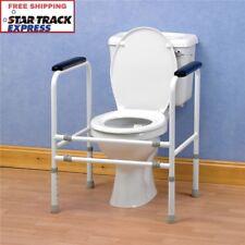 Adjustable Toilet Surround Safety Grab Rails Frame for Elderly Disabled Support