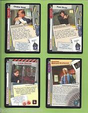 X-FILES  CCG  4-Rares CARDS XF96  # 0028-0029-0104-0220
