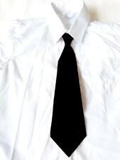 Festliche Kinder-Hemd mit schwarze Krawatte für Jungen in weiss/ A25
