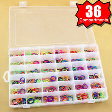 36 Compartments Clear Plastic Storage Box Jewelry Bead Screw Organizer Container