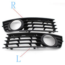2X Front Lower Side Bumper Fog Light Grille for Audi A4 B6 Sedan 2002-2005 Black