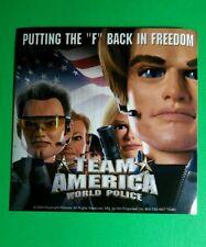 TEAM AMERICA WORLD POLICE HEADPIECE FACE FLAG 4x4 MOVIE GETGLUE GET GLUE STICKER