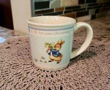 Wedgwood Peter Rabbit New Look Christening Mug EXCELLENT