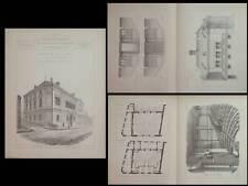 ROUEN, THEATRE DES 2 RIVES - PLANCHES ARCHITECTURE 1890 - AMPHITHEATRE PHYSIQUE