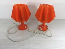 Authentic orange mecanic 70s pair of lamps hippie retro German or Italian Design