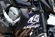 cache / Grille de radiateur inox poli Kawasaki Z750 07>12 Bulldog + grill. bleu