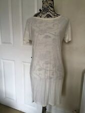 Alexander Wang Dress-T-Shirt,Over Knee,Cream,33%silk,Ladies Size S(10-12)New