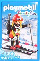 PLAYMOBIL Wintersport 9287 Biathletin Gewehr Mütze Ski-Stöcke Ski-Fahrerin NEU