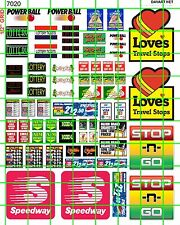 7020 DAVE'S DECAL HO DECALS WATERSLIDE TRUCK STOP, CONVENIENCE STORE, LOTTO SIGN