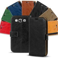 Samsung Galaxy S3 Neo Shockproof Wallet Book Case Cover PU Leather Flip Holder