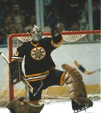 GERRY CHEEVERS 8X10 PHOTO HOCKEY BOSTON BRUINS PICTURE HOCKEY COLOR NHL