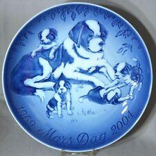 Bing & Grondahl 2004 Mother's Day Jubilee Plate - Saint Bernard with Puppies