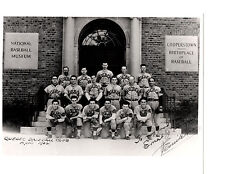 1942 QUEBEC BASEBALL CLUB AT COOPERSTOWN NEW YORK 8X10 TEAM PHOTO HOF CANADA