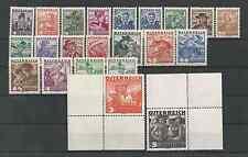 Österreich 1934-1936 Volkstrachten komplett ** (incl 2 Schilling grau)