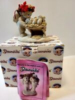 Dreamsicles Born This Day Figurine Cherub/Angel Kissing Baby Jesus 1994 Signed