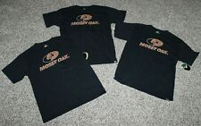 Lot of 3 NEW Boys Youth MOSSY OAK T-Shirts Tees Hunting Black & Brown M or L