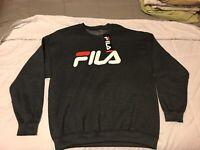 Fila Logo Grey Pullover  Crewneck Sweatshirt Size 1xl (Big And Tall)