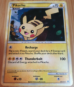 Pikachu  HGSS 03 - Holo - HGSS BLACK STAR PROMO -Pokemon- Englisch - Low Played